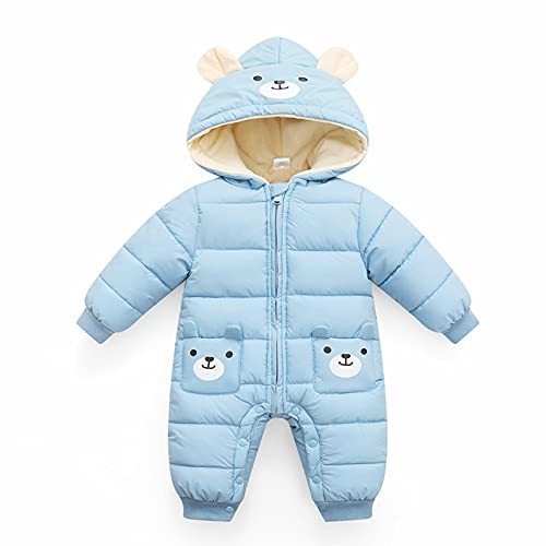 Minizone Baby Overall mit Kapuze Strampler Jungen Mädchen Winter Schneeanzug Outfits Warm Langarm Geschenk...