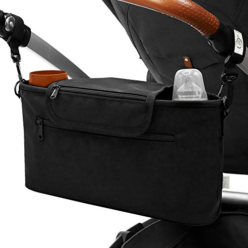 BiMAX Kinderwagen Organizer inkl. Schulterband, Isoliertasche und Befestigungshaken I Kinderwagentasche I...