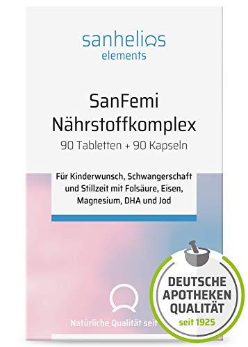 Sanhelios SanFemi - für Kinderwunsch, Schwangerschaft und Stillzeit - Vitaminkomplex und Nährstoffe wie...