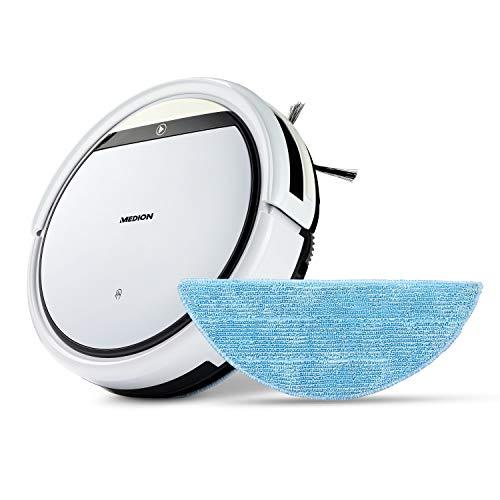 MEDION Saugroboter mit Wischfunktion (90 Min. Laufzeit, 2in1 Saug und Wisch Roboterstaubsauger für...