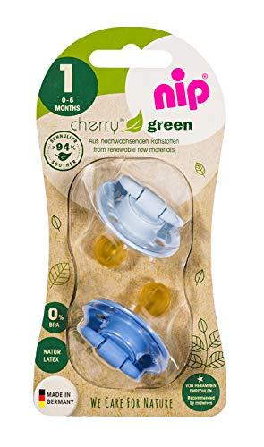 Nip Cherry'Green' Schnuller Gr.1 0-6 Monate (hellblau/blau)