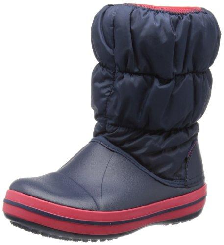 Crocs Winter Puff Boot Kids, Unisex - Kinder Schneestiefel, Blau (Navy/Red), 30/31 EU