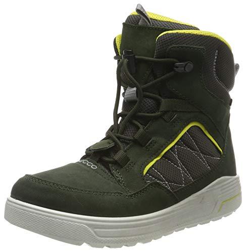 ECCO Jungen URBAN SNOWBOARDER Hohe Sneaker Mid-cut Boot, Grün (Deep Forest/Canary 51640), 39 EU
