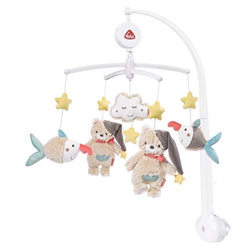 Fehn 060249 Musik-Mobile Bruno – Spieluhr-Mobile mit dem Bären Bruno und seinen Freunden – Für Babys von...