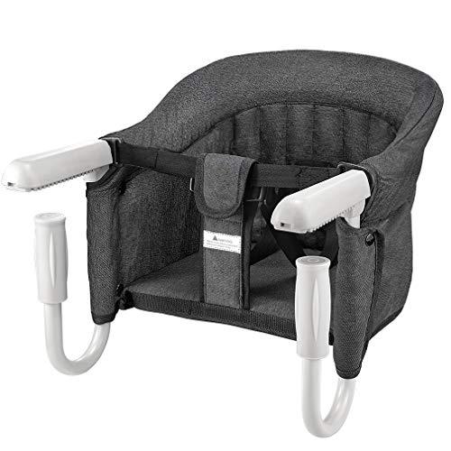 Tischsitz Faltbar Babysitz Baby Hochstuhl Sitzerhöhung für zu Hause und Unterwegs mit Transporttasche...