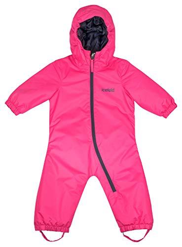 icefeld Schneeoverall/Skianzug für Babys und Kleinkinder (Jungen und Mädchen), pink in Größe 86/92