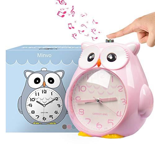 KOROTUS COLLECTION Wecker Kinder ohne Ticken Kinderuhr mit nachtlicht, Schlafzimmer Snooze Funktion Uhr mit...