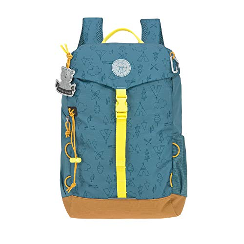 LÄSSIG Kinder Wanderrucksack Kinderrucksack Ausflug ab 5 Jahre /Outdoor Backpack Big Adventure Blau, 14 L