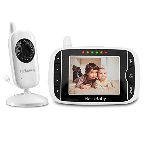 HelloBaby Babyphone mit Kamera HB32 3.2' Digital Funk TFT LCD Drahtloser Video baby Monitor mit Digitalkamera,...