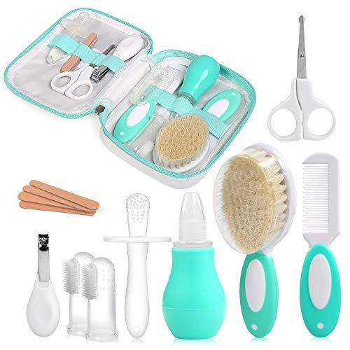 NEWSTYLE Babypflege Set,12 teiliges Set für Baby Alltag Pflege Mit Baby Gesundheitswesen Kit mit Nasensauger...