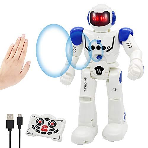 Vindany Intelligente RC Roboter Spielzeug Weihnachts-Geburtstagsgeschenk Fernbedienung Geste Steuerung Roboter...
