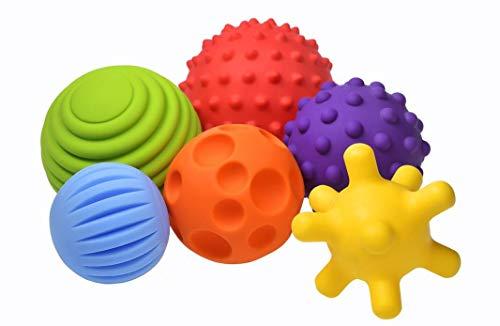 FancyBaby Sensorik Balls - Babyspielzeug ab 0 3 6 8 Monate, Greifball für Babys, Multi Texturierte Bälle,...