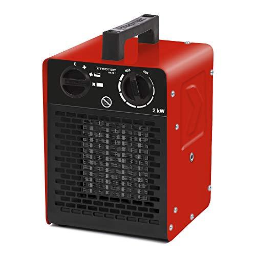 TROTEC Keramik Heizlüfter Elektroheizer TDS 10 C inkl. Mehrstufen-Temperaturregelung bis 2.000 Watt (2 kW)...
