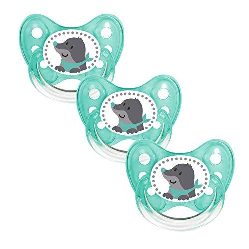 Dentistar® Silikon Schnuller 3er Set - Baby Nuckel Größe 1, 0-6 Monate - Beruhigungssauger für Babies und...