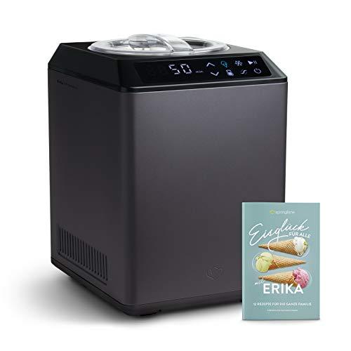 Eismaschine & Joghurtbereiter Erika 2,5L mit selbstkühlendem Kompressor 250W, aus Edelstahl mit Kühl- und...