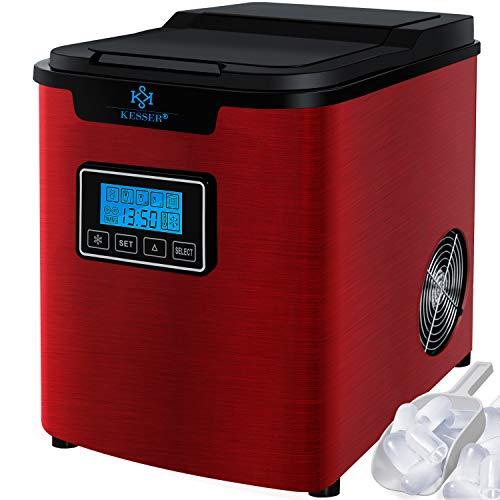 KESSER® Eiswürfelbereiter | Eiswürfelmaschine Edelstahl | 150W Ice Maker | 12 kg 24 h | 3 Würfelgrößen |...