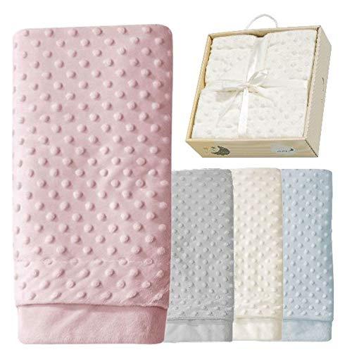 ERÖFFNUNGS-ANGEBOT Babydecke Mädchen rosa Kuscheldecke Baby rose Erstlingsdecke Set Decke super-weich...