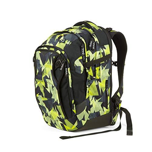 Satch match Schulrucksack - ergonomisch, erweiterbar auf 35 Liter, extra Fronttasche - Gravity Jungle - Black