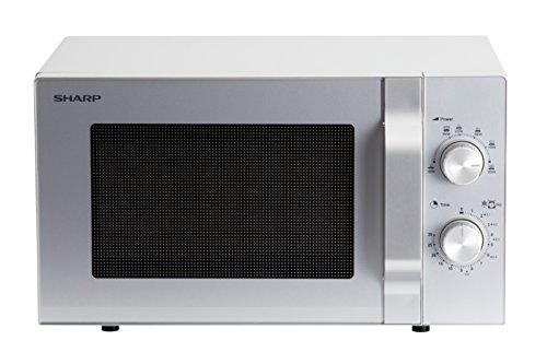 Sharp R204S Solo-Mikrowelle / 20 L / 800 W / 6 Leistungsstufen / Zeitschaltuhr von 30 Minuten bis 00 Sekunden...