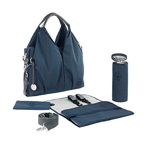 LÄSSIG Baby Wickeltasche nachhaltig inkl. Wickelzubehör nachhaltig produziert/Green Label Neckline Bag, blau...