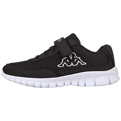 Kappa Jungen Unisex Kinder Follow Sneaker, Schwarz, 30 EU