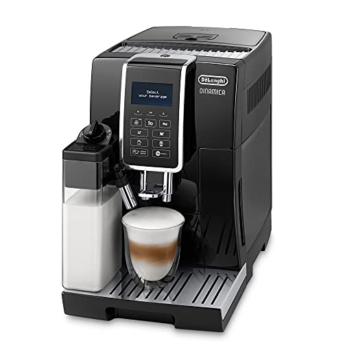 De'Longhi Dinamica ECAM 350.55.B Kaffeevollautomat mit Milchsystem, Cappuccino, Espresso und Kaffee auf...