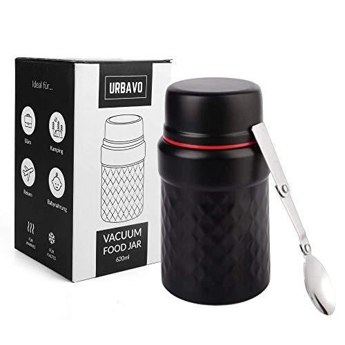 Urbavo Thermobehälter Essensbehälter 500ml & 620ml, Warmhaltebox, Isolierbehälter für Warme Speisen,...
