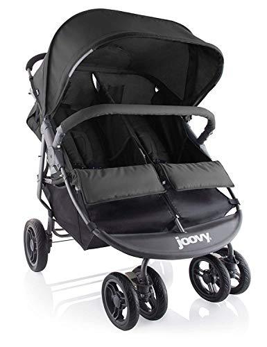 Joovy Scooter X2 Zwillings Geschwisterwagen Kinderwagen Buggy, schwarz