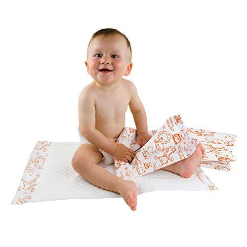 Teqler Baby-Wickelunterlagen: Wickelunterlagen mit verschiedenen Motiven für unterwegs, hygienisch mit...