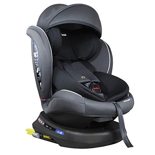XOMAX S64 Kindersitz drehbar 360° mit ISOFIX und Liegefunktion I mitwachsend I 0-36 kg, 0-12 Jahre, Gruppe...