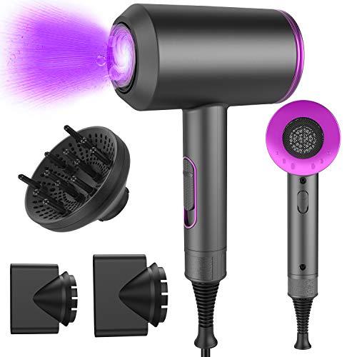 Haartrockner, 4-in-1 Professional Hair Dryer 2000w Haarfön Mit Windgeschwindigkeit-einstellung, 2 flache...