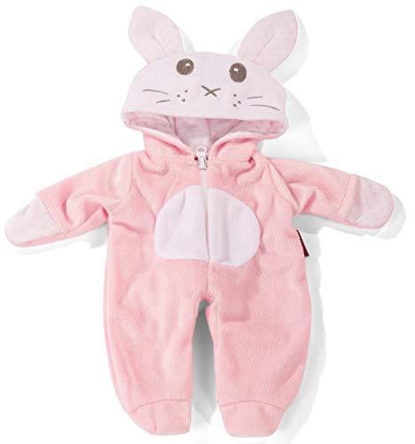 Götz 3403255 Onesie Rabbit Overall - Puppenbekleidung Gr. S - Bekleidungs- und Zubehörset für Babypuppen...