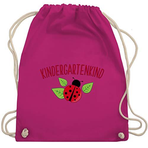 Shirtracer Kindergarten - Kindergartenkind Marienkäfer - Unisize - Fuchsia - turnbeutel kindergarten mädchen...