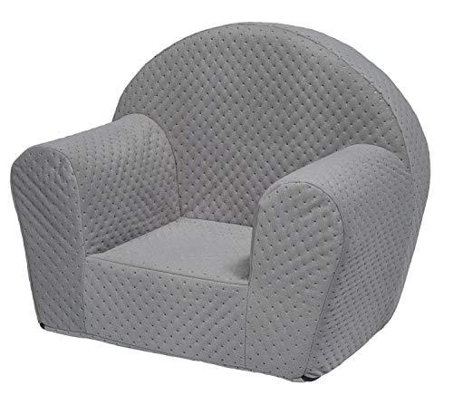 Velinda Kindersessel Mini-Sessel Kinderstuhl Relaxsessel Kuschelsessel Softsessel (Farbe: grau)