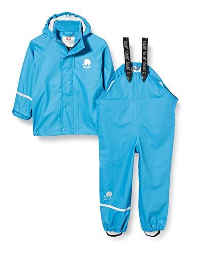 Celavi Jungen Zweiteiliger Regenanzug in Vielen Farben Regenjacke, Blau (Blue 728), (Herstellergröße:80)