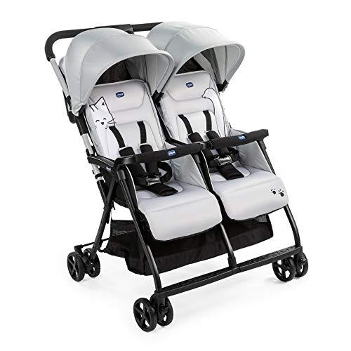 Chicco Zwilligsbuggy OHLALA' TWIN, ultra-leichtre und ultra-kompakter Geschwisterkinderbuggy für Babys und...