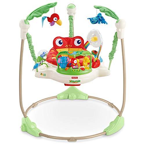 Fisher-Price K7198 Rainforest Jumperoo Baby Hopser mit Spielzeugen höhenverstellbar [Exklusiv bei Amazon]