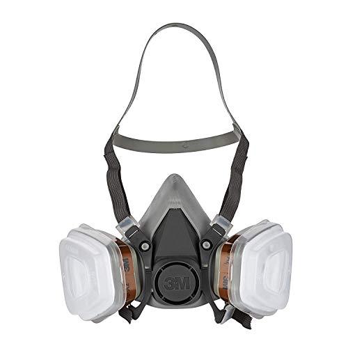 3M Mehrweg-Halbmaske 6002C - Halbmaske mit Wechselfiltern gegen organische Gase, Dämpfe und Partikel - Für...