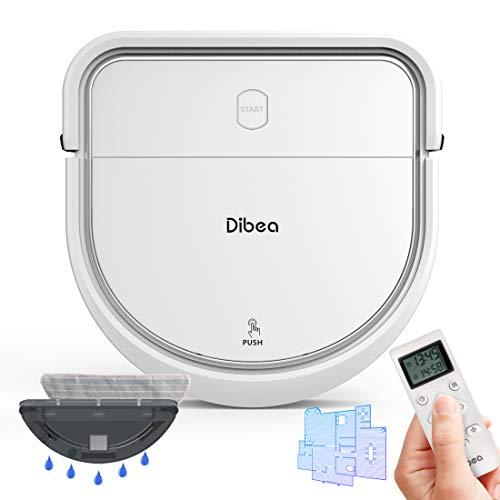 dibea Saugroboter Intelligente Navigation mit Wischfunktion Gyroskop Staubsauger Roboter Saugen Wischen...