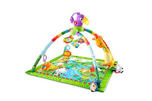 Fisher-Price GXC35 - Rainforest Erlebnisdecke, Krabbeldecke mit Musik und Lichtern, Spieldecke für Babys mit...
