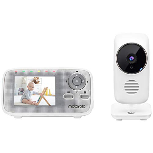 motorola MBP481AXL Video Baby Monitor 2,4' Babyphone 300m Reichweite, 2-Wege-Sprache, Schlaflieder,...
