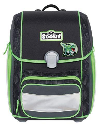 Scout Genius Schulranzen Set 4 tlg. Black Dino