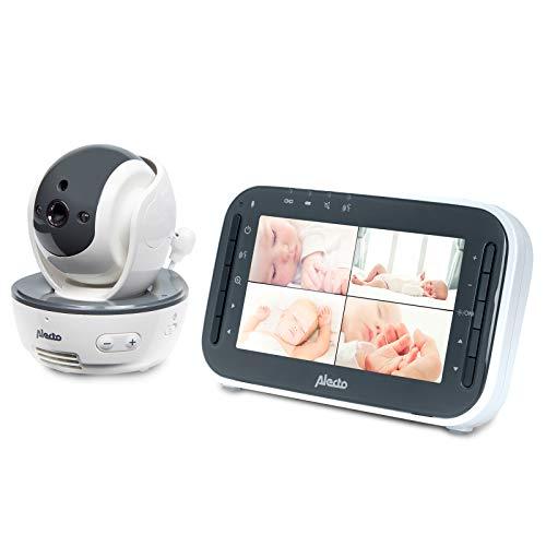 Alecto DVM-200 Funk Babyphone (100% störungsfrei), mit steuerbarer Kamera, Nachtsicht, hohe Reichweite von...