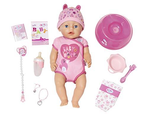 BABY born Soft Touch Girl Puppe mit lebensechten Funktionen und viel Zubehör, bewegliche Gelenke und weiche...