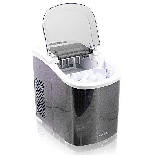 Eiswürfelmaschine Edelstahl Eiswürfelbereiter Eiswürfel Ice Maker Eis Maschine Icemaker (Grau)