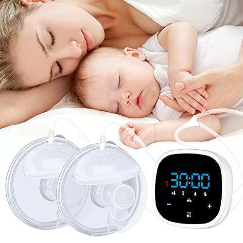 Elektrische Doppelmilchpumpe, Hochfrequenz-Stillpumpen mit LCD-Touchscreen Freisprech-Stillpumpen (fünf Modi)
