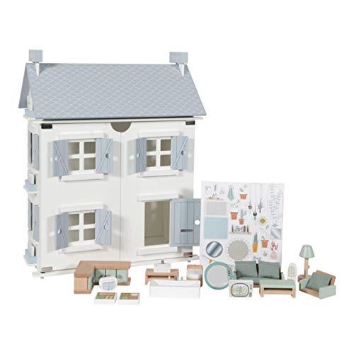 Little Dutch 4466 Holz Puppenhaus weiß 20-teilig