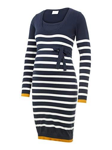 MAMALICIOUS Mama Licious Female Still-Kleid Gestreiftes Strick XLNavy Blazer 2