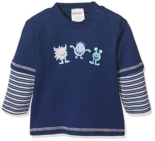 Schnizler Baby-Jungen Sweat-Shirt Interlock Kleine Monster Langarmshirt, Blau (Marine 11), (Herstellergröße:...