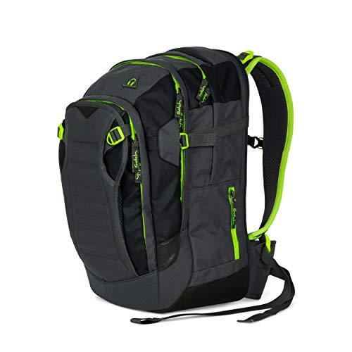 Satch match Schulrucksack - ergonomisch, erweiterbar auf 35 Liter, extra Fronttasche - Phantom - Grau